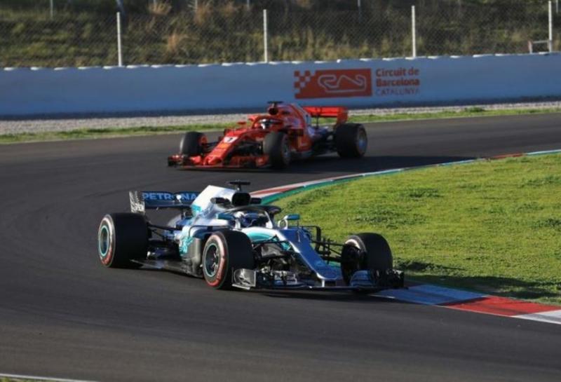 Отрывы между командами Формулы 1 на предсезонных тестах по данным GPS