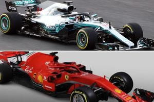 Сравнительный технический анализ шасси Mercedes W09 и Ferrari SF71H
