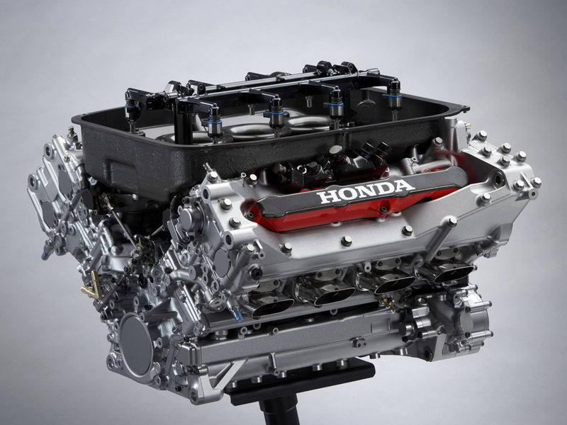 Honda F1 RA806E V8 в разрезе