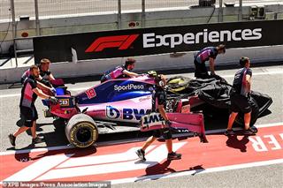 Аварія Стролла в Іспанії засмутила Racing Point