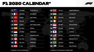 Офіційно. Формула-1 затвердила календар на сезон-2020