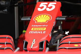 Технічний брифінг: носовий обтікач Ferrari SF21 у Портімао 2021