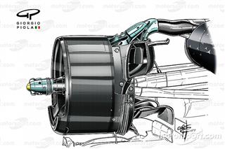 Технічний аналіз: спірний елемент в підвісці Mercedes W10